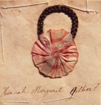Hannah Margaret Gilbert, schoolgirl hair album, Gettysburg, Penn., 1863, year of the famed battle. Courtesy Cindy and Wolf Spring, private collection.