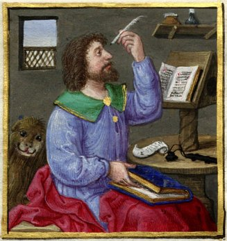 Book of Hours, Rosenwald MS.Evangelist with lion